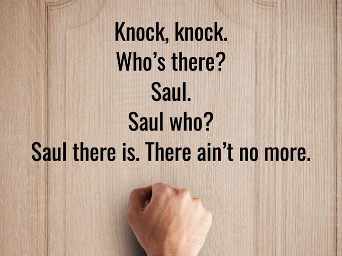 Best Knock Knock Jokes - Saul