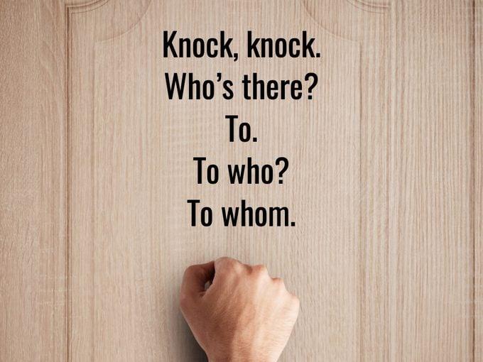 Best Knock Knock Jokes - To Whom