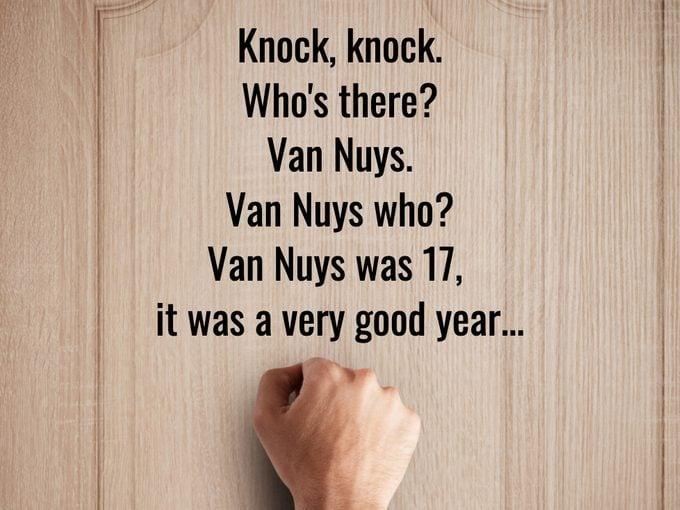 Best Knock Knock Jokes - Van Nuys