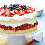 Layered Strawberry Cream Cake