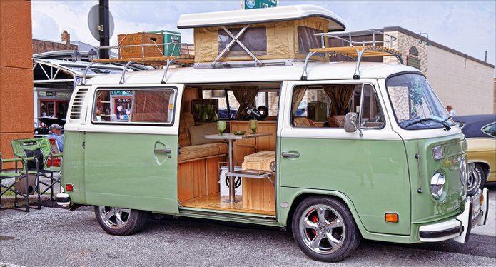 Road Trip VW Van Olive Green