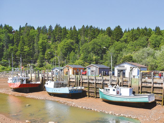 St Martins New Brunswick - Harbour At Low Tide