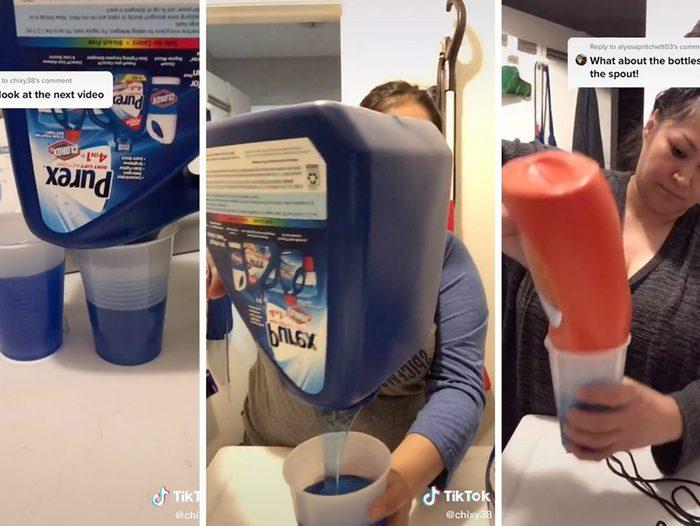 Tiktok Laundry Detergent Bottle Hack