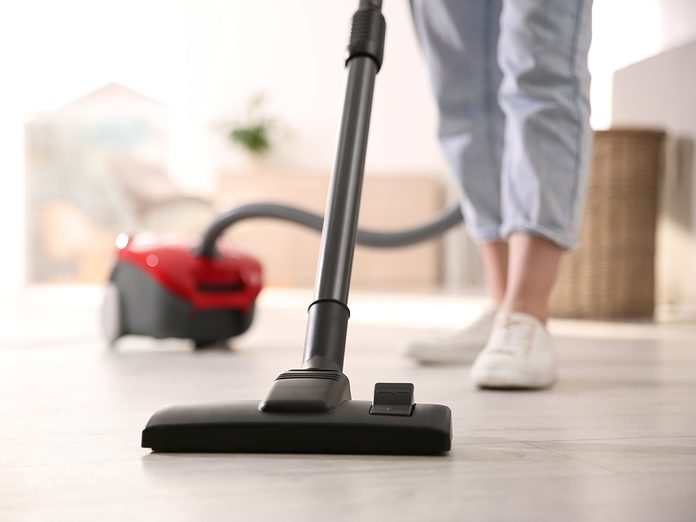 Vacuuming mistake everyone makes - woman with vacuum