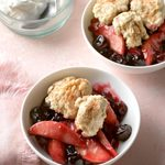 Slow-Cooker Cherry Pear Buckle