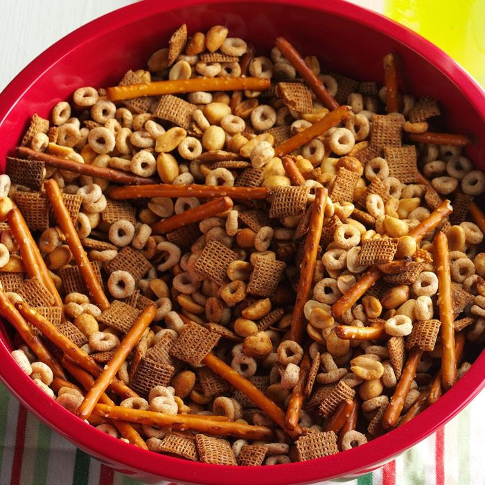 Slow Cooker Party Mix Feature Image
