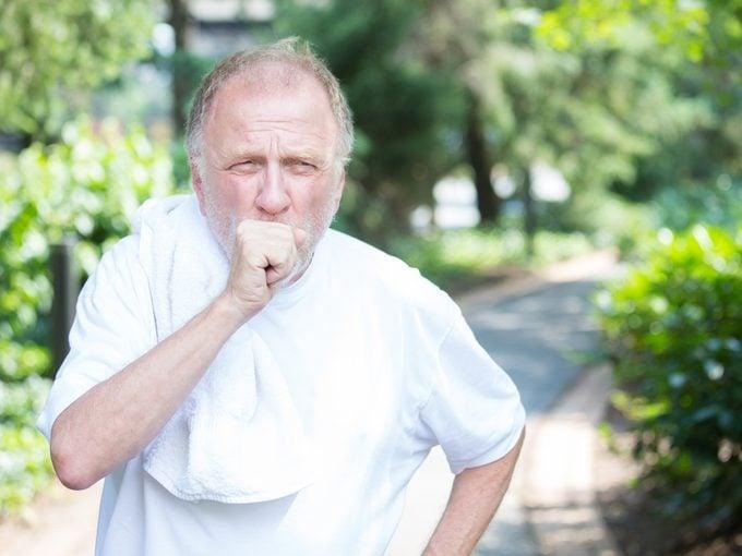 Trelegy Img2 - Older man coughing outside