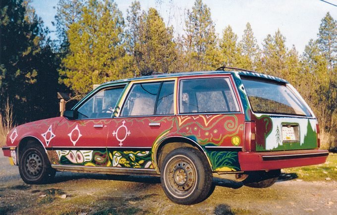 car with one-of-a-kind paint job - side view