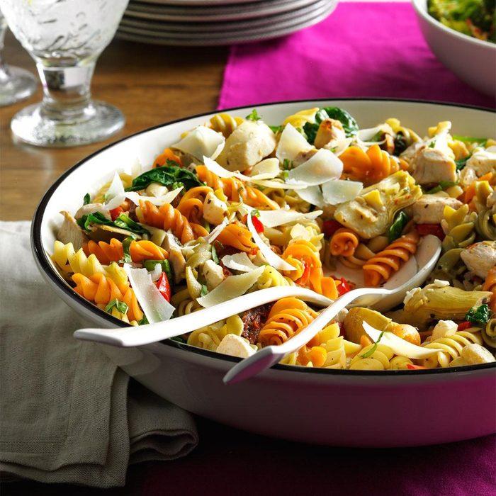 Day 1 Lunch: Mediterranean Chicken Pasta