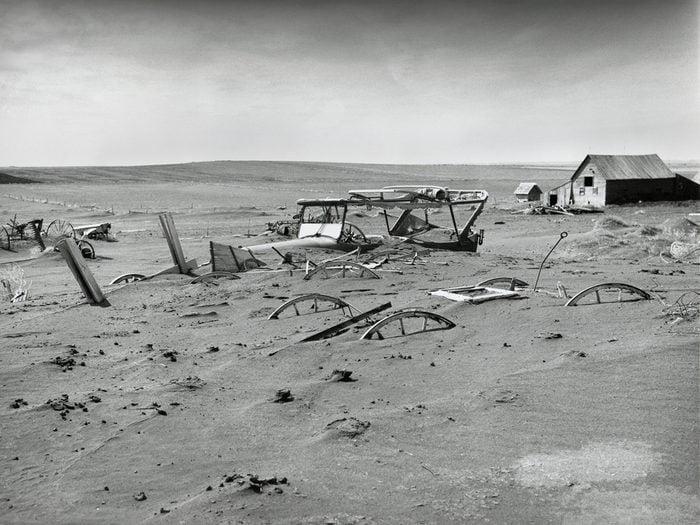 Hottest temperature in Canada - Dust Bowl