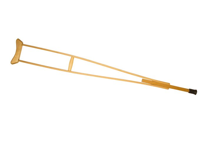 Wood crutch turned into a musical instrument