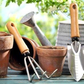 Yard tool hacks - Outdoor gardening tools on table