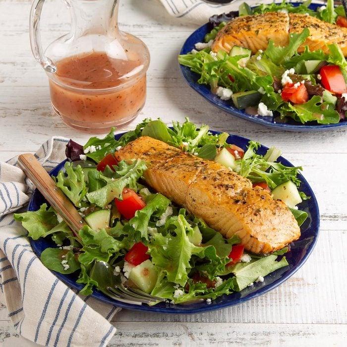 Feta Salmon Salad