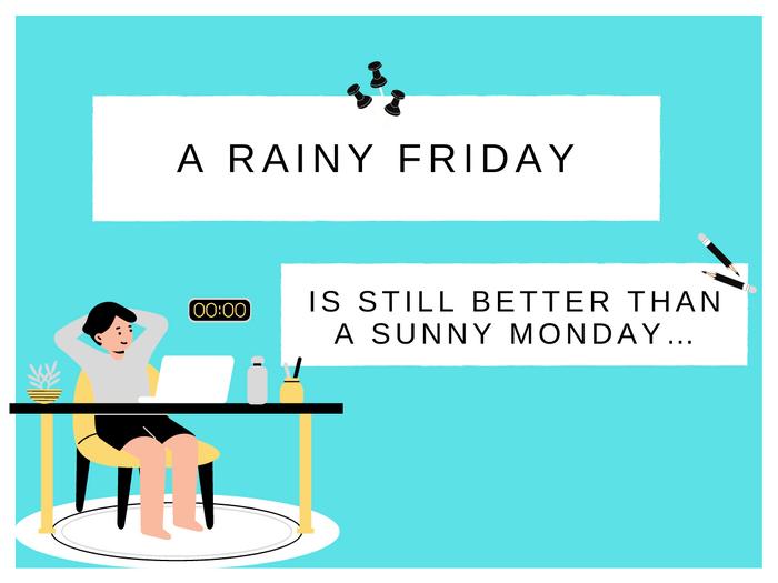 Monday Jokes- Rain Over Work