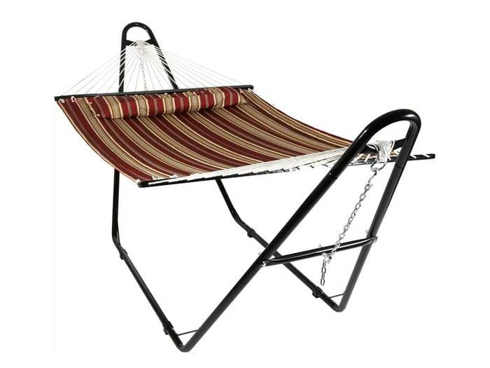 Canada hammock - Wayfair brown striped hammock with a-frame stand