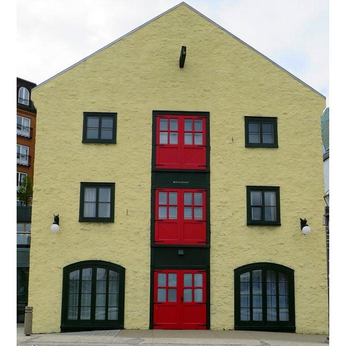 Doors across Canada - Quebec warehouse with red doors