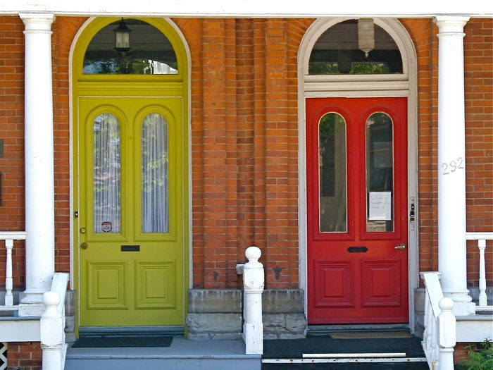 Doors Across Canada - Yellow Door Red Door