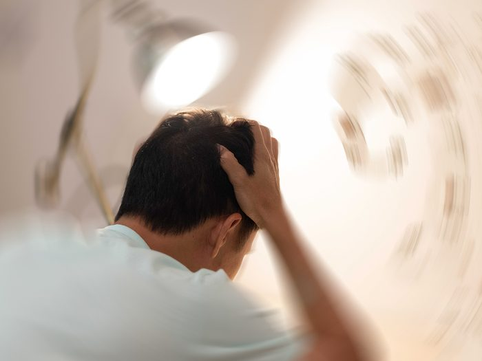Medical trivia - dizzy man