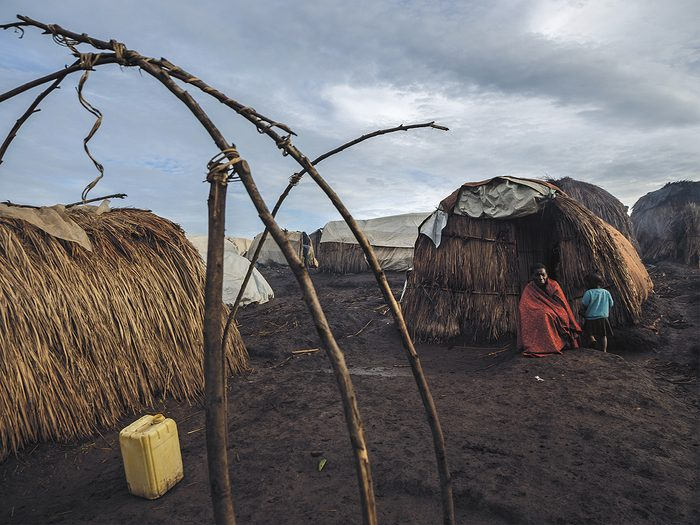 Roger Lemoyne - A temporary camp in the Democratic Republic of the Congo's province of Ituri