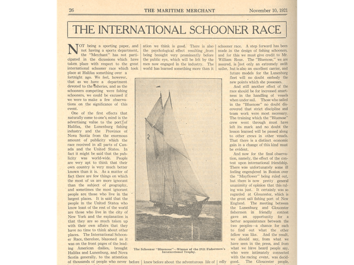 What happened to the Bluenose - Bluenose, Nova Scotia Archives