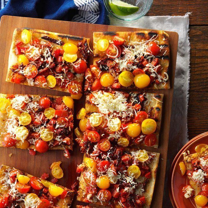 Triple Tomato Flatbread recipe