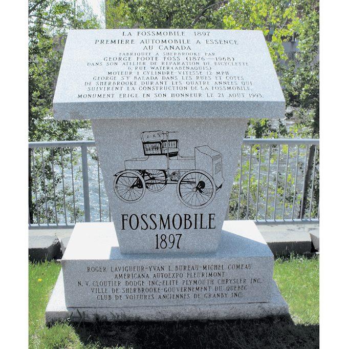 Fossmobile - George Foss Monument