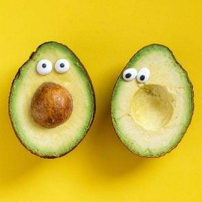 Funny food Tweets - silly avocado faces