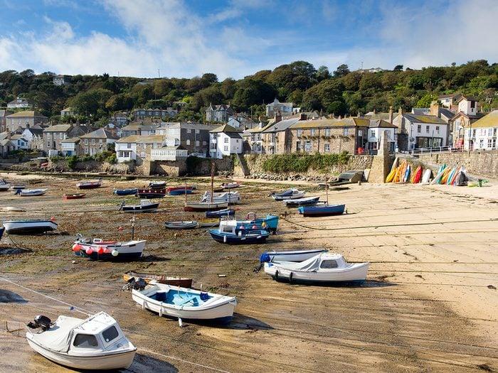 Ocean words - low tide in Cornwall port