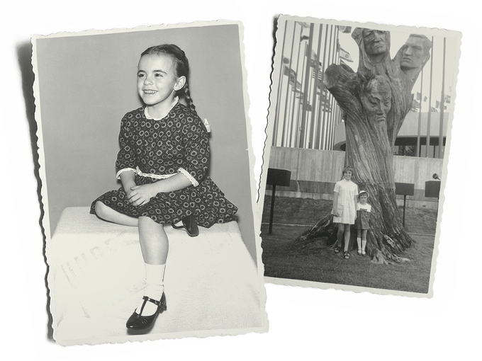 The author at age 6 (left) and attending Expo 68 at age 12