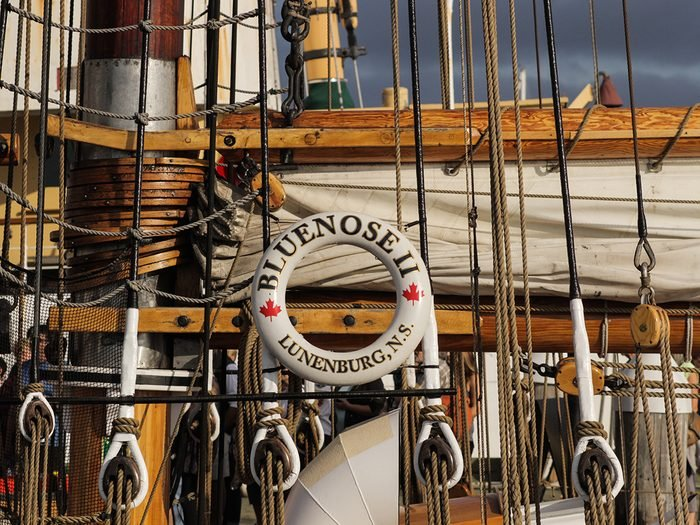 What happened to the Bluenose - Bluenose II life preserver
