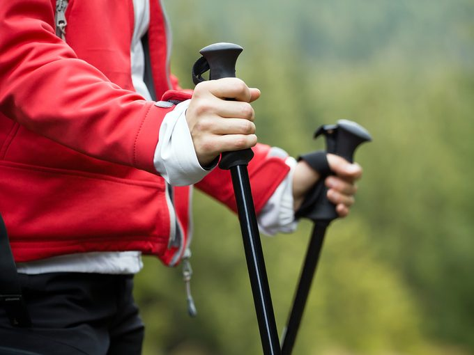 What is Nordic walking - poles close up