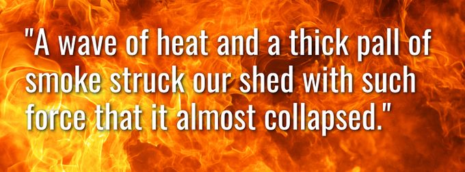 Worst forest fire in Canada - Great Matheson Fire eyewitness quote 1