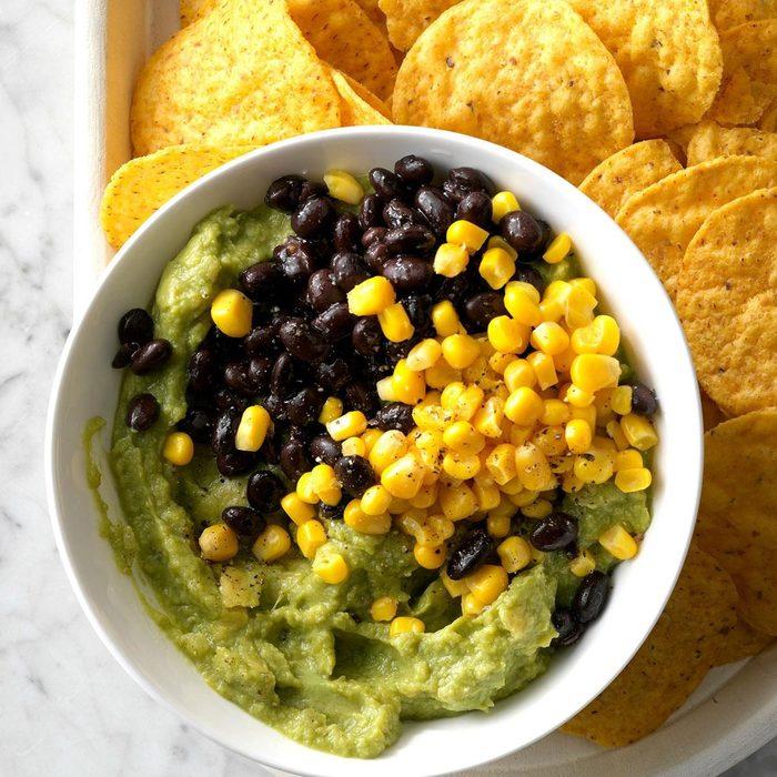 Healthy corn recipes - Black Bean And Corn Guacamole Exps Tmbstk18 255118 Guacamole C10 29 5b 7