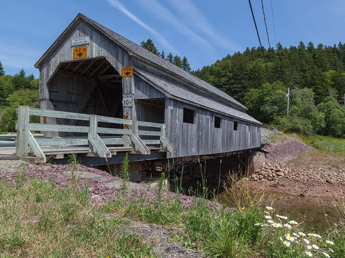 Covered Bridges - Hardscrabble Covered Bridge in St. Martins, New Brunswick