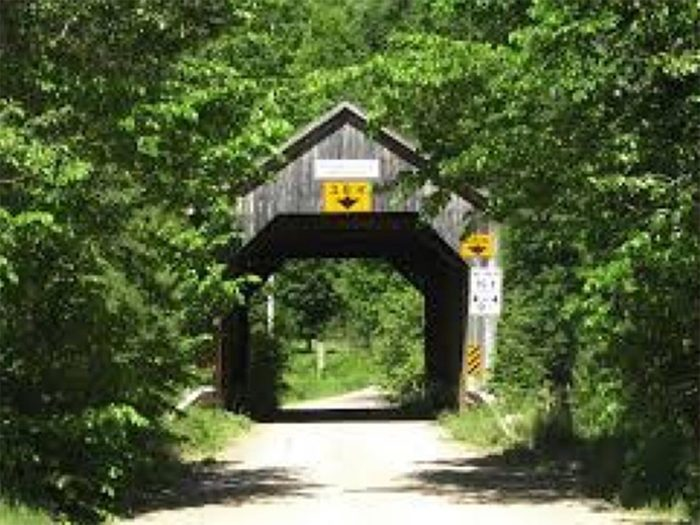 Covered Bridges - Malone Covered Bridge in South Branch, New Brunswick