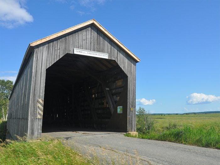 Covered Bridges - Sawmill Creek Bridge in Hopewell Hill, New Brunswick
