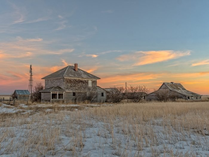Old farm at sunset - sunset pictures
