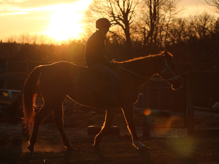 Sunset pictures - horseback riding