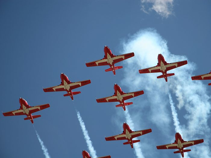 CF Snowbirds flying in formation