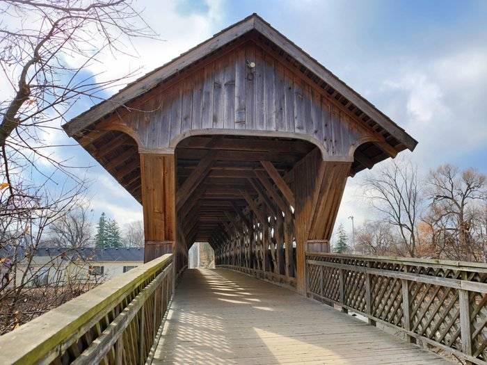 Covered Bridges - The Covered Bridge in Guelph, Ontario
