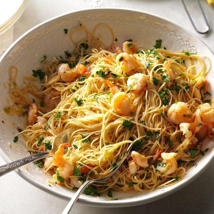 Summer Pasta Recipes - Light & Lemony Scampi
