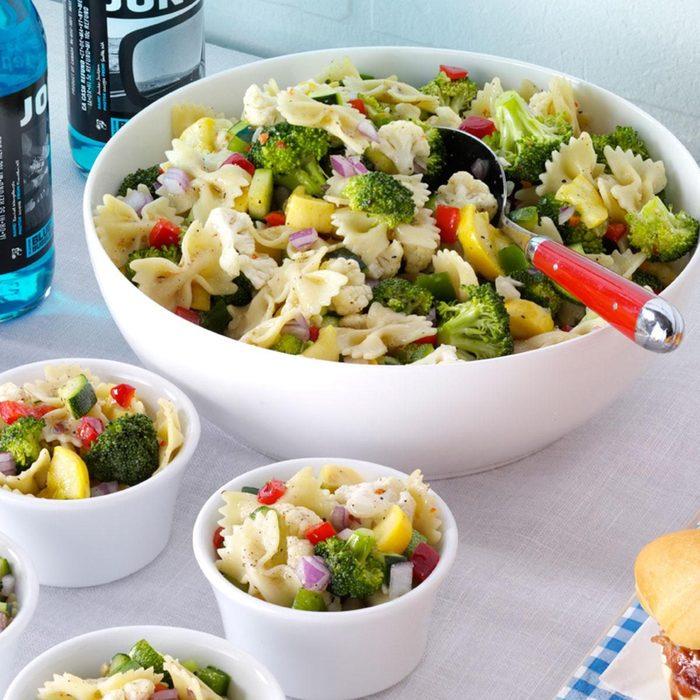 summer pasta recipes - Garden Bow Tie Salad