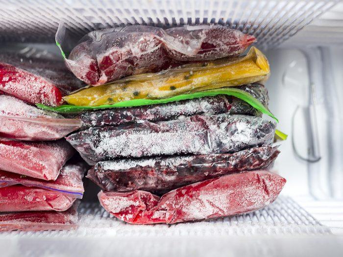 Freezer frost - Frozen berries