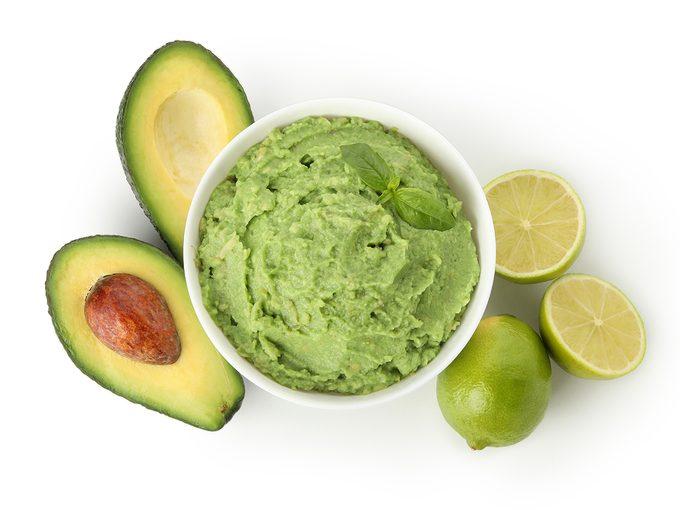 Health benefits of avocado - guacamole in bowl