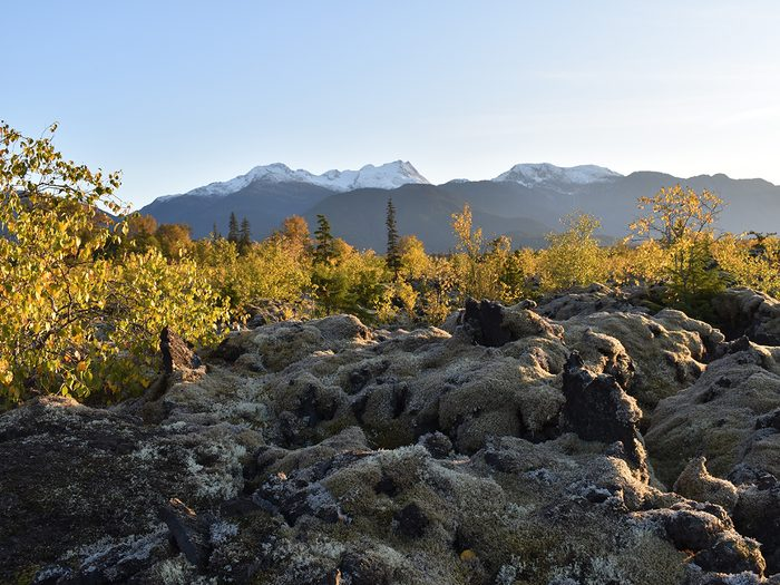 Natural disasters in Canada - hardened lava bed in Nass Valley, B.C.