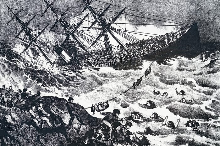 Natural disasters in Canada - Sinking of the SS Atlantic off Nova Scotia, 1873