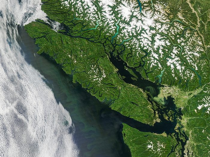 Natural Disasters in Canada - Vancouver Island From Space