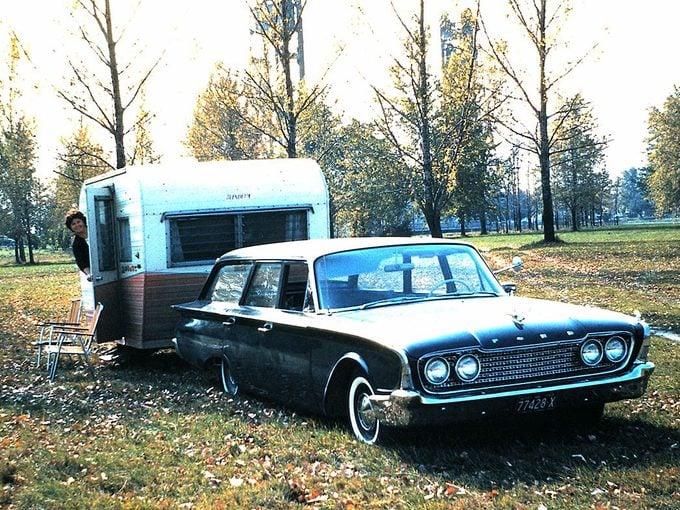 Camper trailer - 1960 Ford station wagon and camper