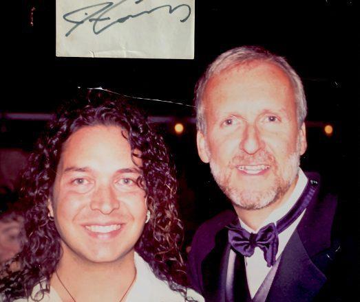 Sergio Navarretta with James Cameron