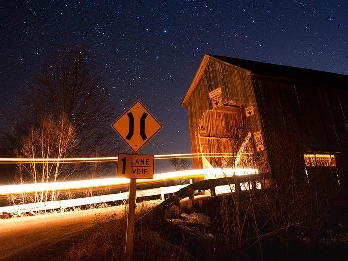 Covered Bridges - Hammond River #3 (Smithtown) Covered Bridge in Hampton, New Brunswick